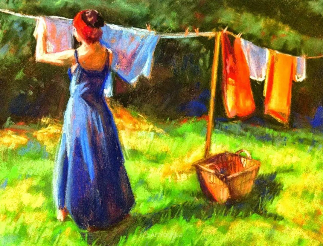 充满活力的感性粉彩 美国印象派女画家Margaret Dyer插图1