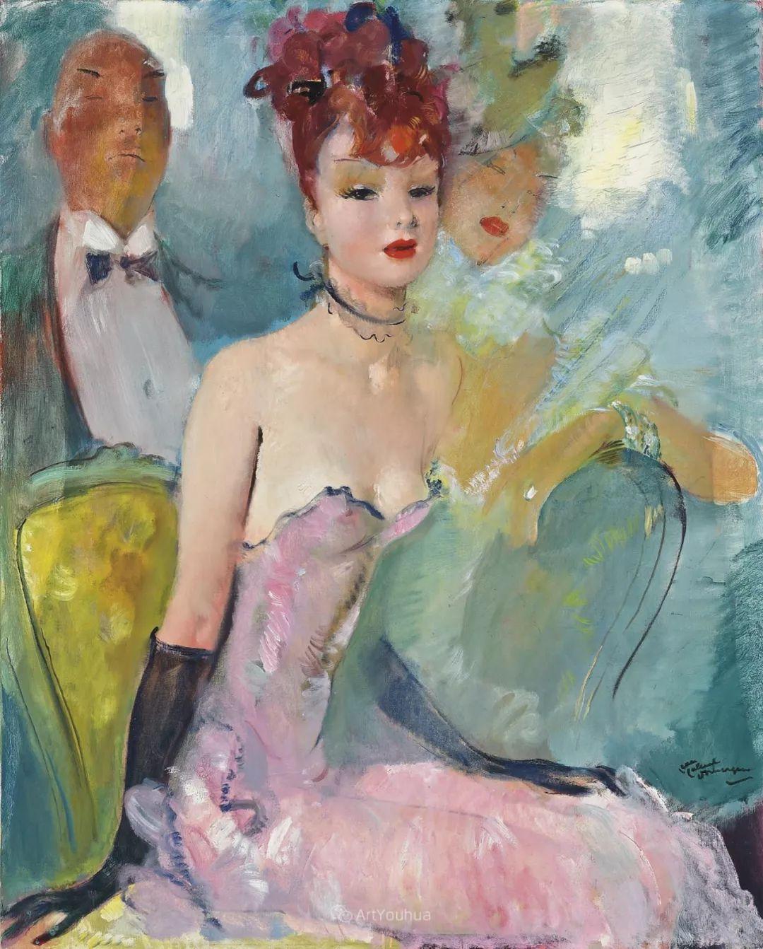 他画中的美女:典雅美丽天鹅颈,脸上带着调情趣味插图