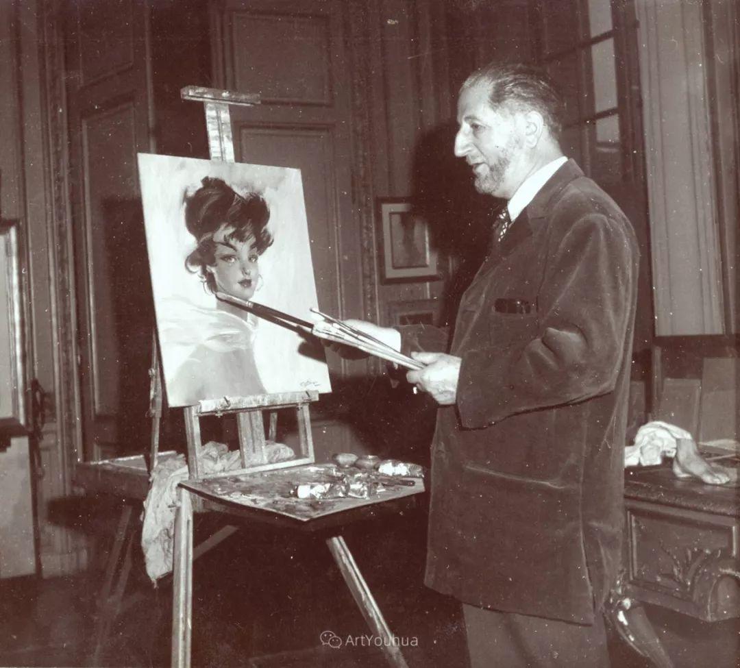 他画中的美女:典雅美丽天鹅颈,脸上带着调情趣味插图1