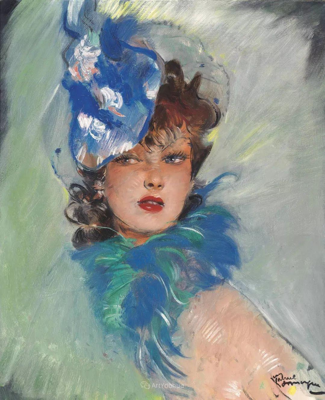 他画中的美女:典雅美丽天鹅颈,脸上带着调情趣味插图2