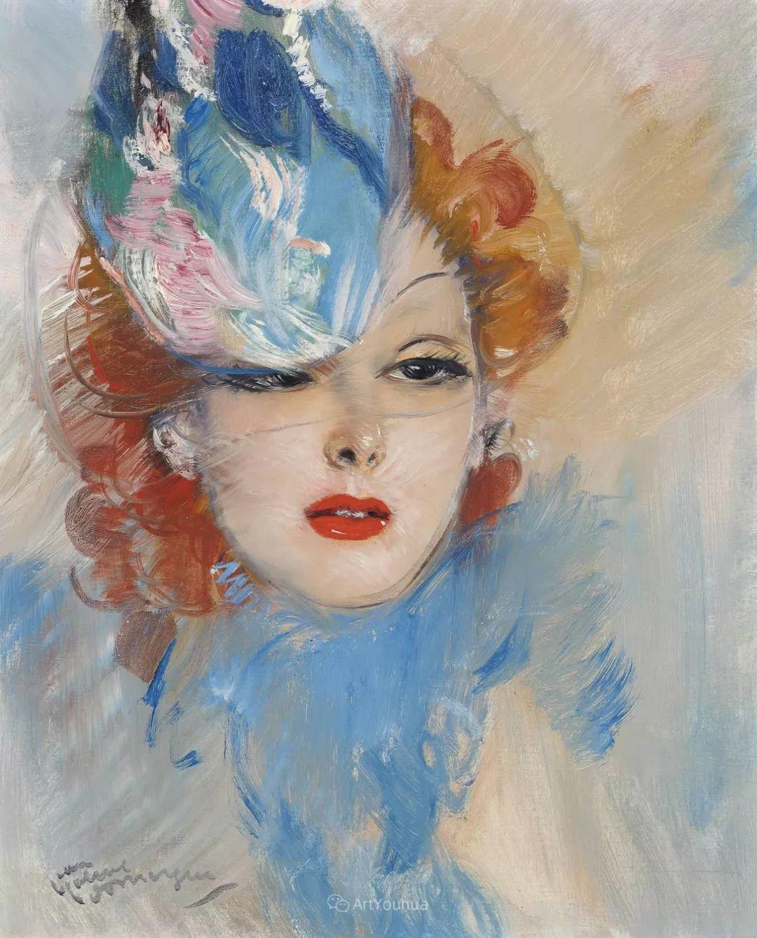 他画中的美女:典雅美丽天鹅颈,脸上带着调情趣味插图7
