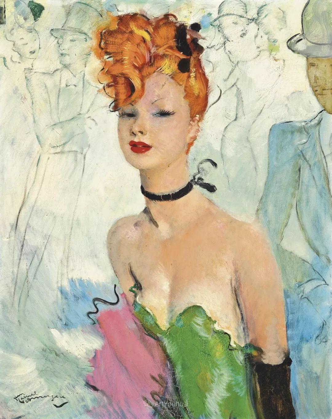 他画中的美女:典雅美丽天鹅颈,脸上带着调情趣味插图4