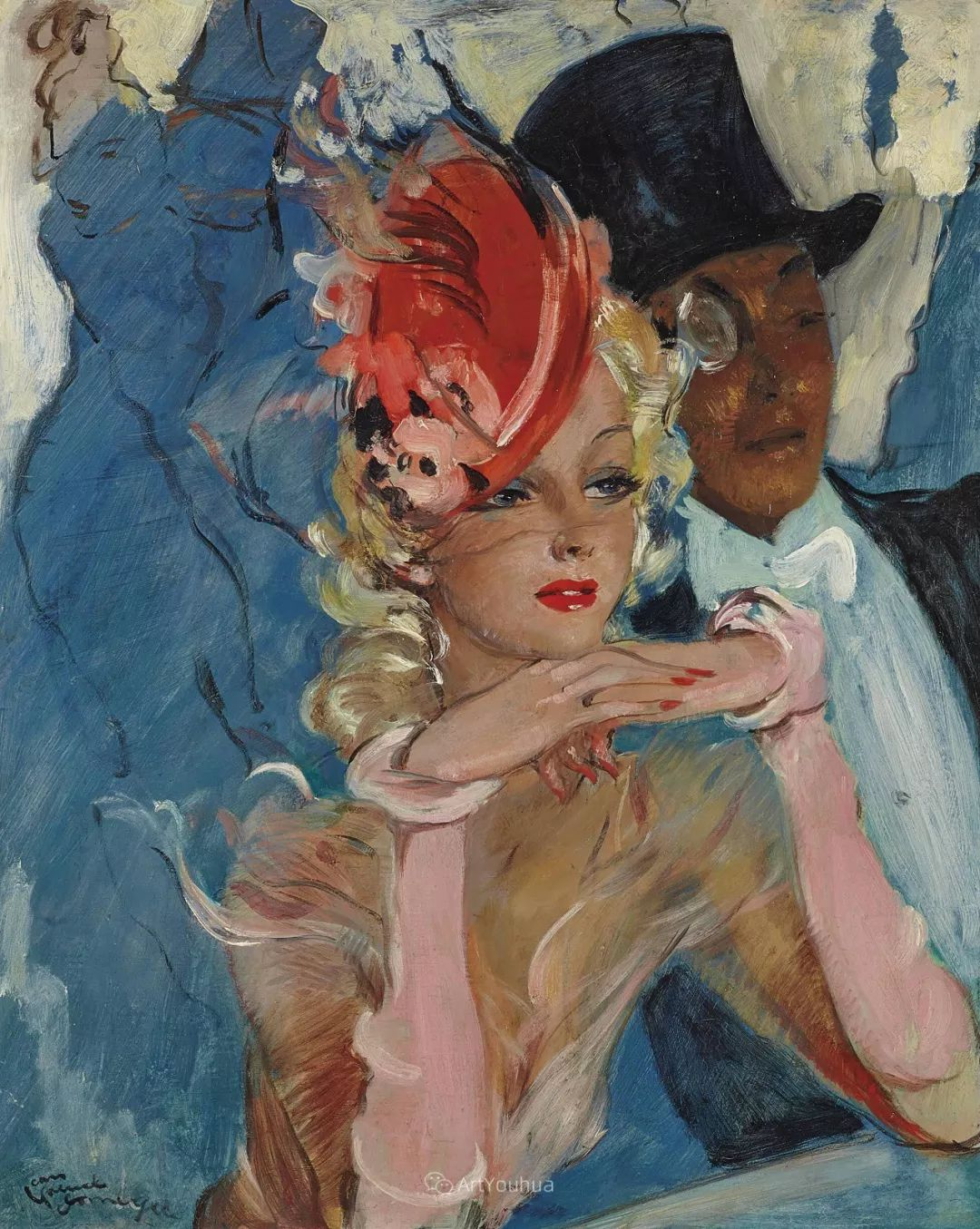 他画中的美女:典雅美丽天鹅颈,脸上带着调情趣味插图13