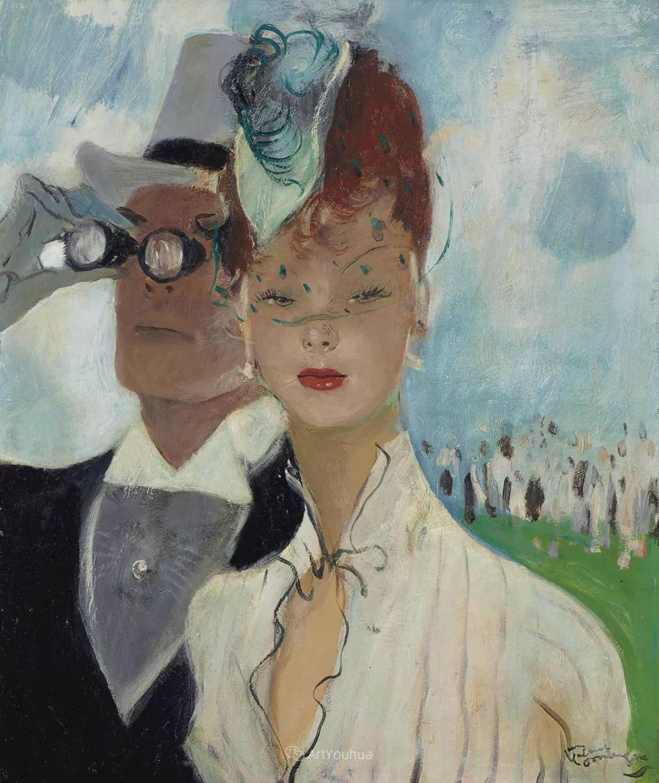 他画中的美女:典雅美丽天鹅颈,脸上带着调情趣味插图17
