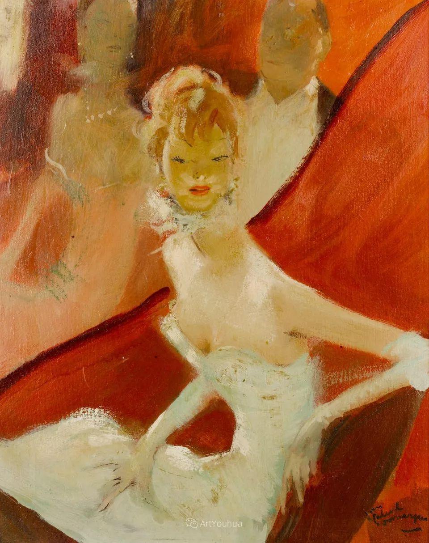 他画中的美女:典雅美丽天鹅颈,脸上带着调情趣味插图12