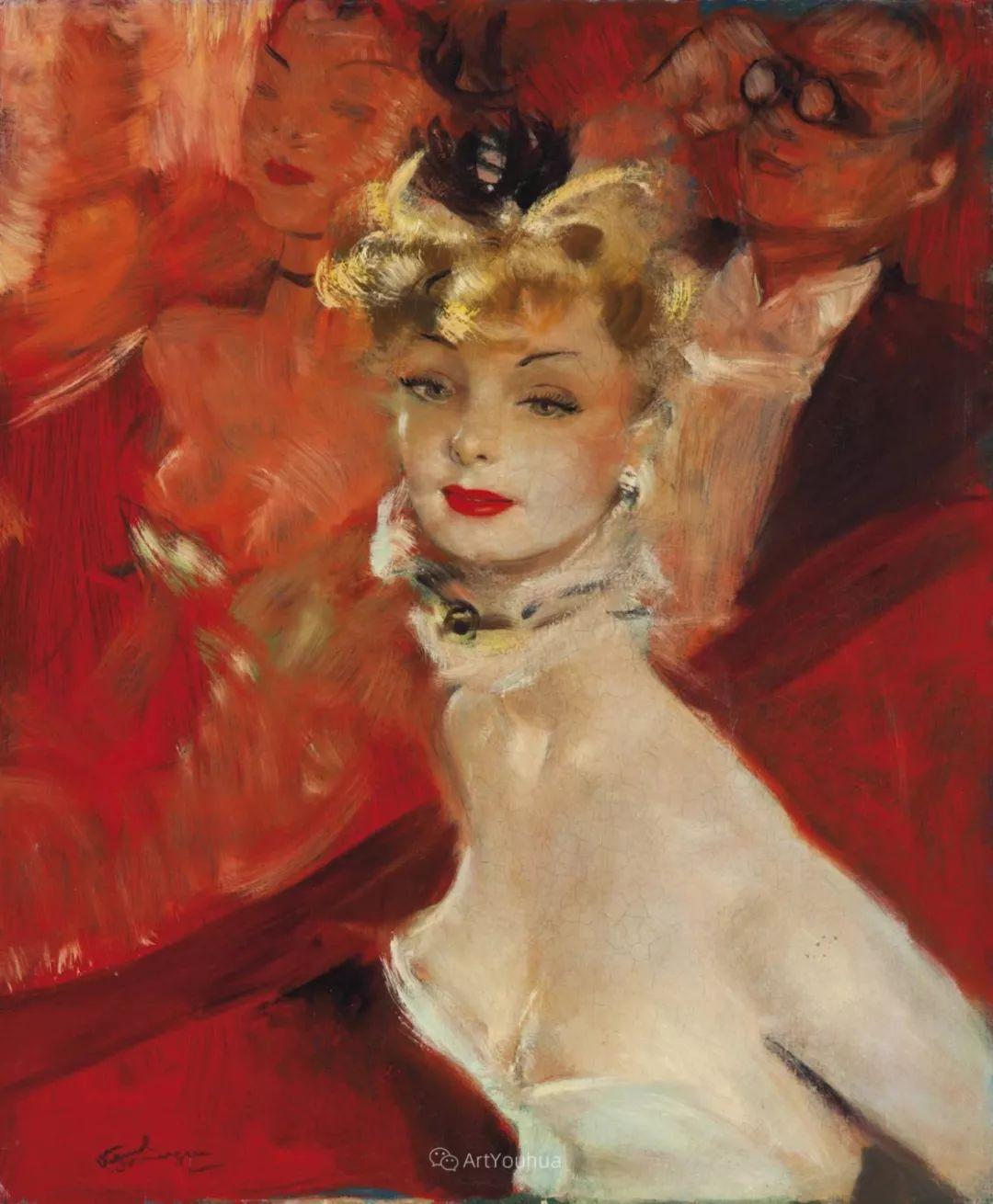 他画中的美女:典雅美丽天鹅颈,脸上带着调情趣味插图14