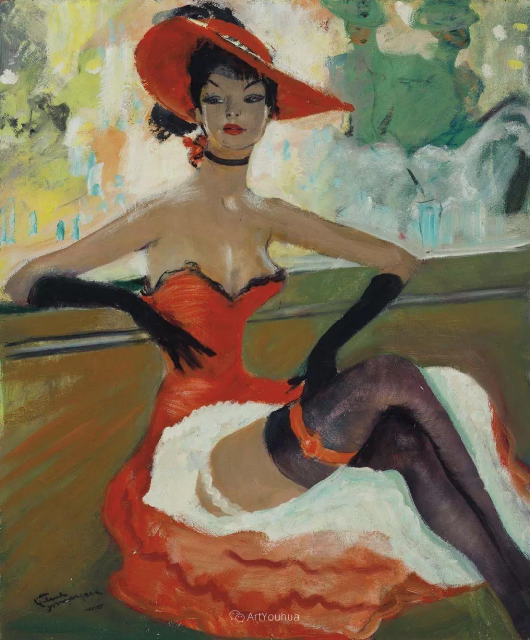 他画中的美女:典雅美丽天鹅颈,脸上带着调情趣味插图16