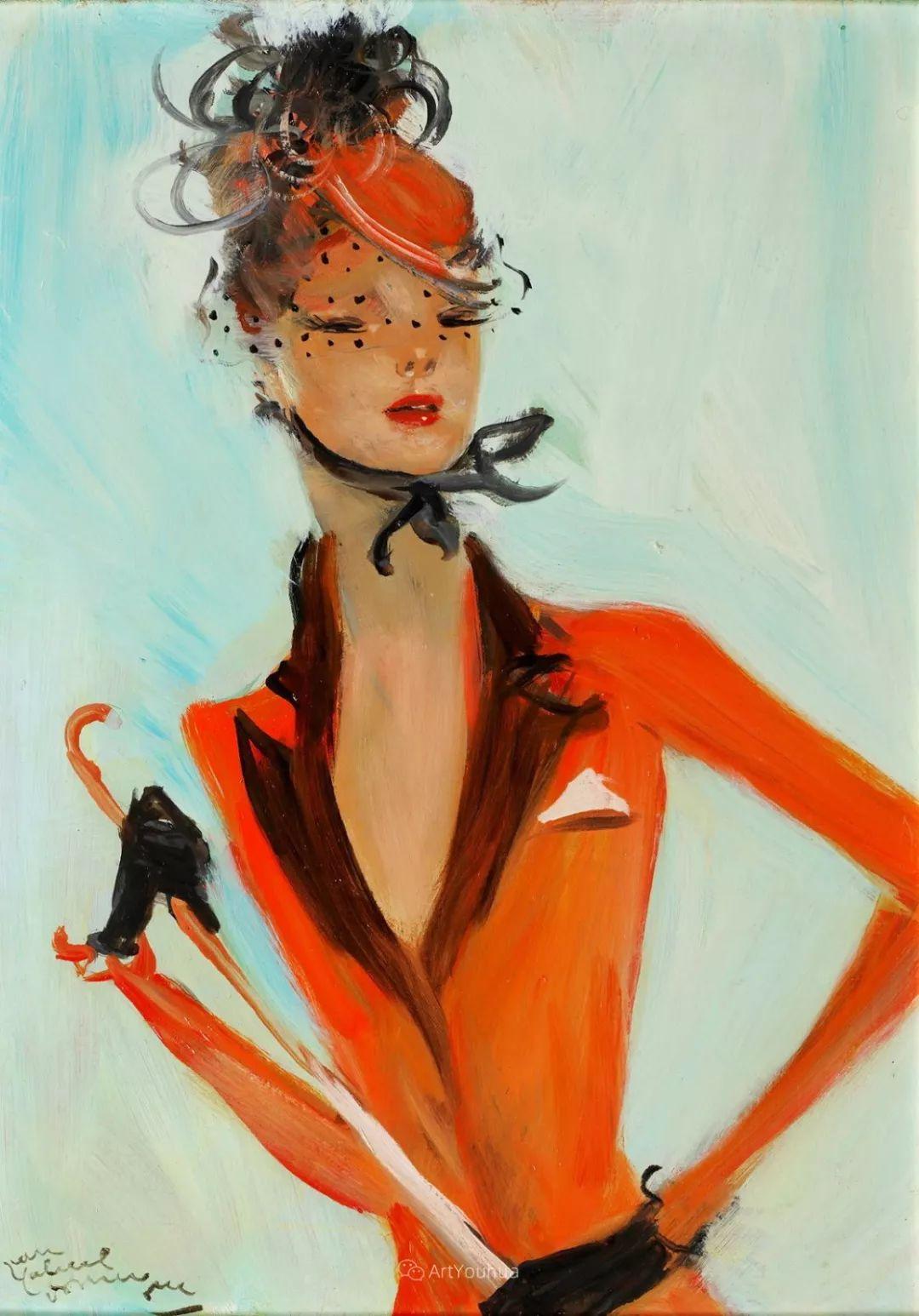 他画中的美女:典雅美丽天鹅颈,脸上带着调情趣味插图41