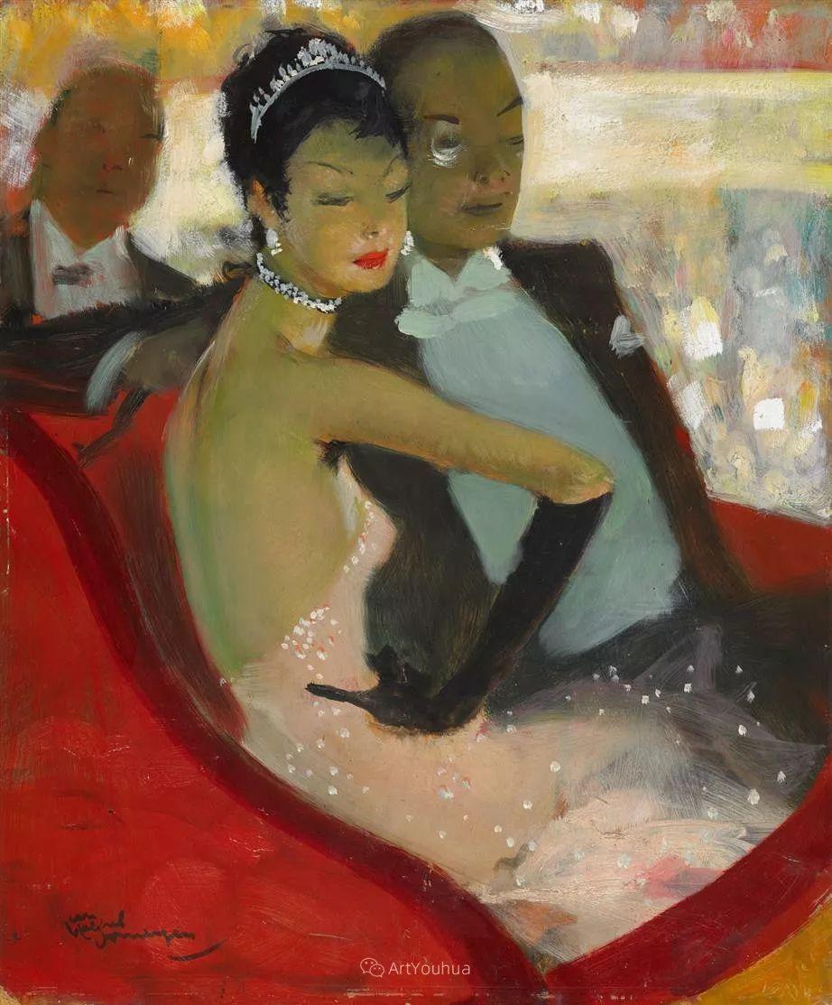 他画中的美女:典雅美丽天鹅颈,脸上带着调情趣味插图44