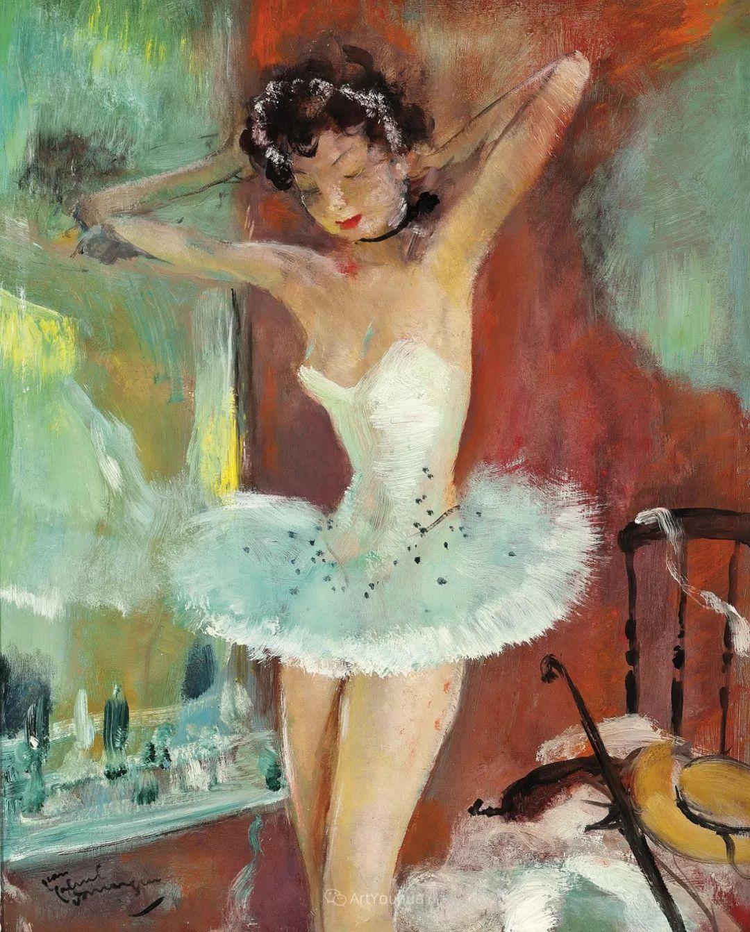 他画中的美女:典雅美丽天鹅颈,脸上带着调情趣味插图46