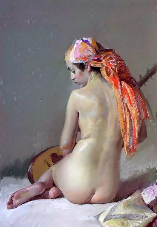 粉彩之美,西班牙艺术家桑塔曼斯的绘画作品插图