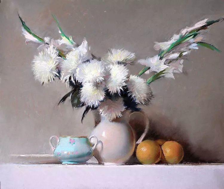 粉彩之美,西班牙艺术家桑塔曼斯的绘画作品插图14