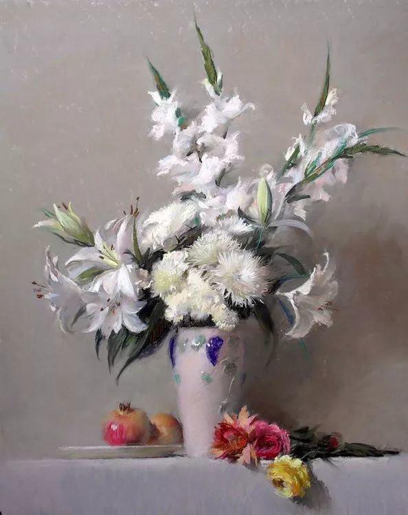 粉彩之美,西班牙艺术家桑塔曼斯的绘画作品插图22