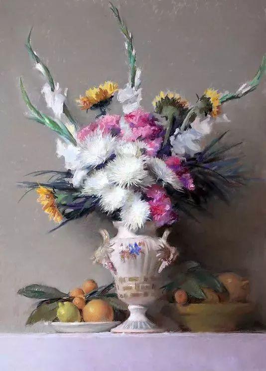 粉彩之美,西班牙艺术家桑塔曼斯的绘画作品插图24