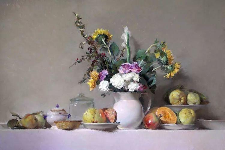 粉彩之美,西班牙艺术家桑塔曼斯的绘画作品插图25