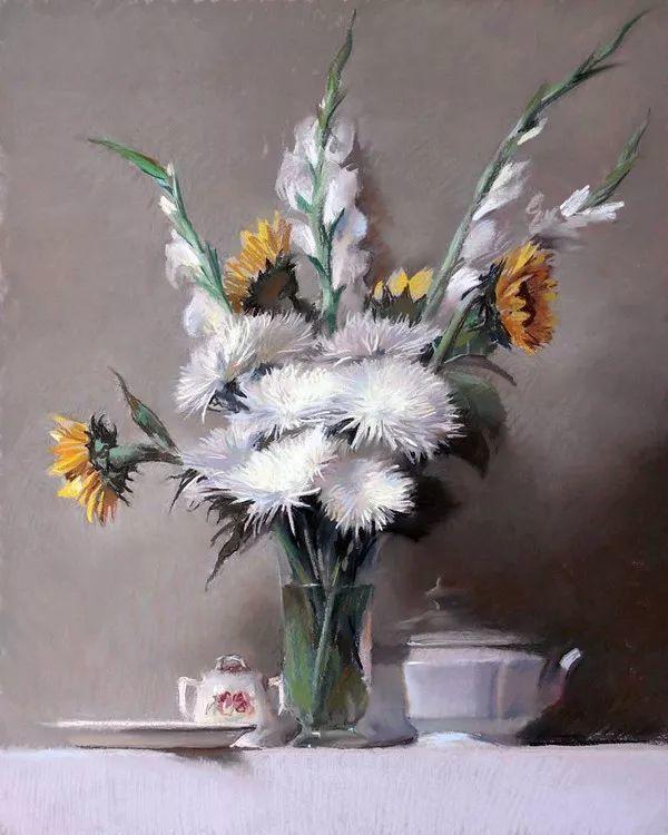 粉彩之美,西班牙艺术家桑塔曼斯的绘画作品插图26