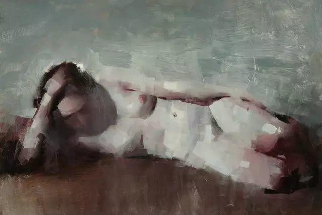 美国老教授用大色块、大笔触描绘的人体,生猛劲爽!插图3