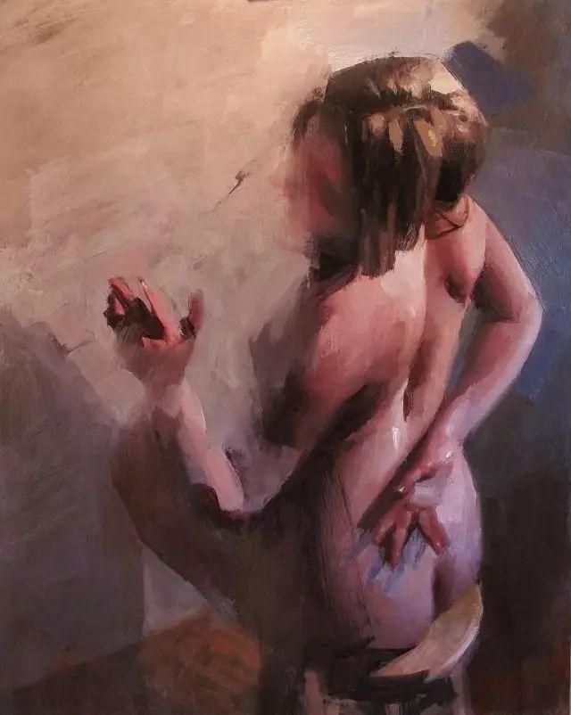 美国老教授用大色块、大笔触描绘的人体,生猛劲爽!插图15