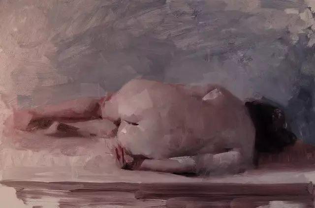 美国老教授用大色块、大笔触描绘的人体,生猛劲爽!插图21