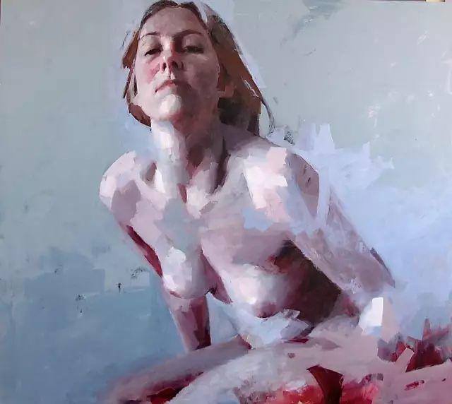 美国老教授用大色块、大笔触描绘的人体,生猛劲爽!插图30