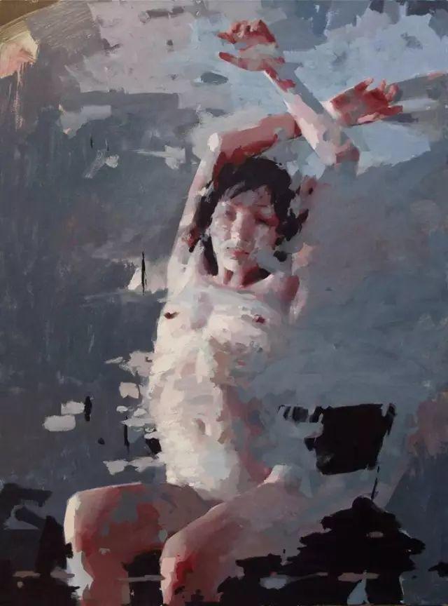 美国老教授用大色块、大笔触描绘的人体,生猛劲爽!插图32