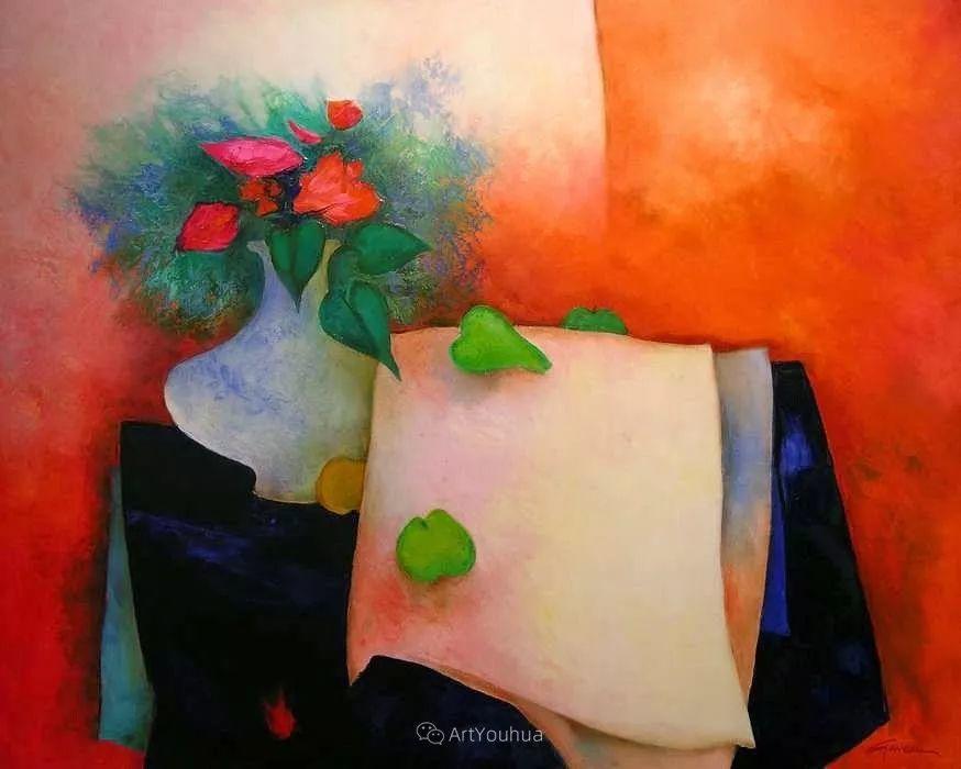 色彩和谐 色调鲜艳,法国抽象派装饰画家Claude Gaveau插图