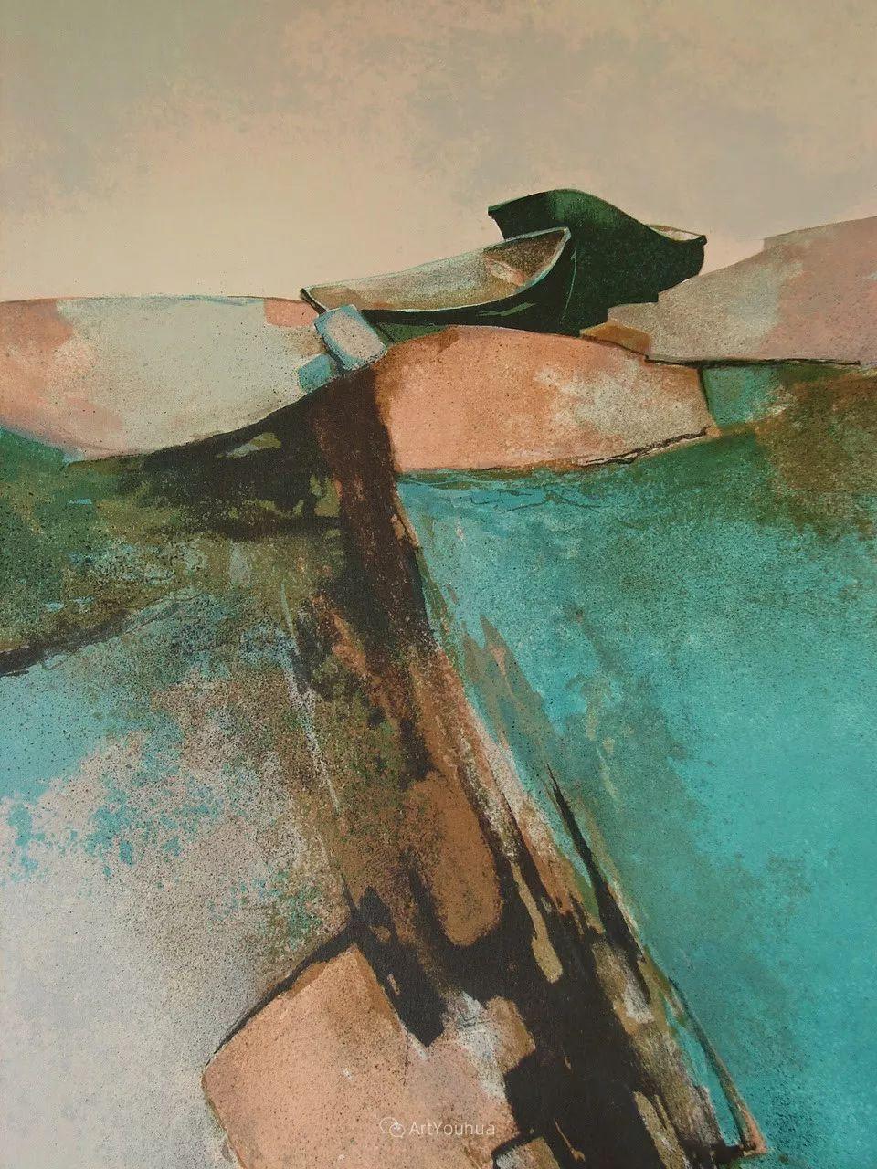 色彩和谐 色调鲜艳,法国抽象派装饰画家Claude Gaveau插图3