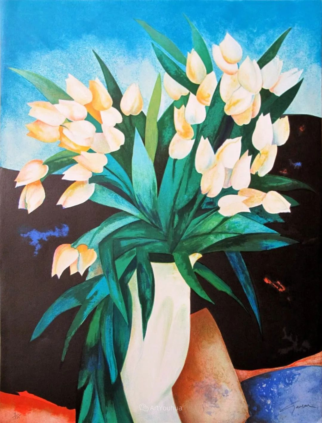 色彩和谐 色调鲜艳,法国抽象派装饰画家Claude Gaveau插图4