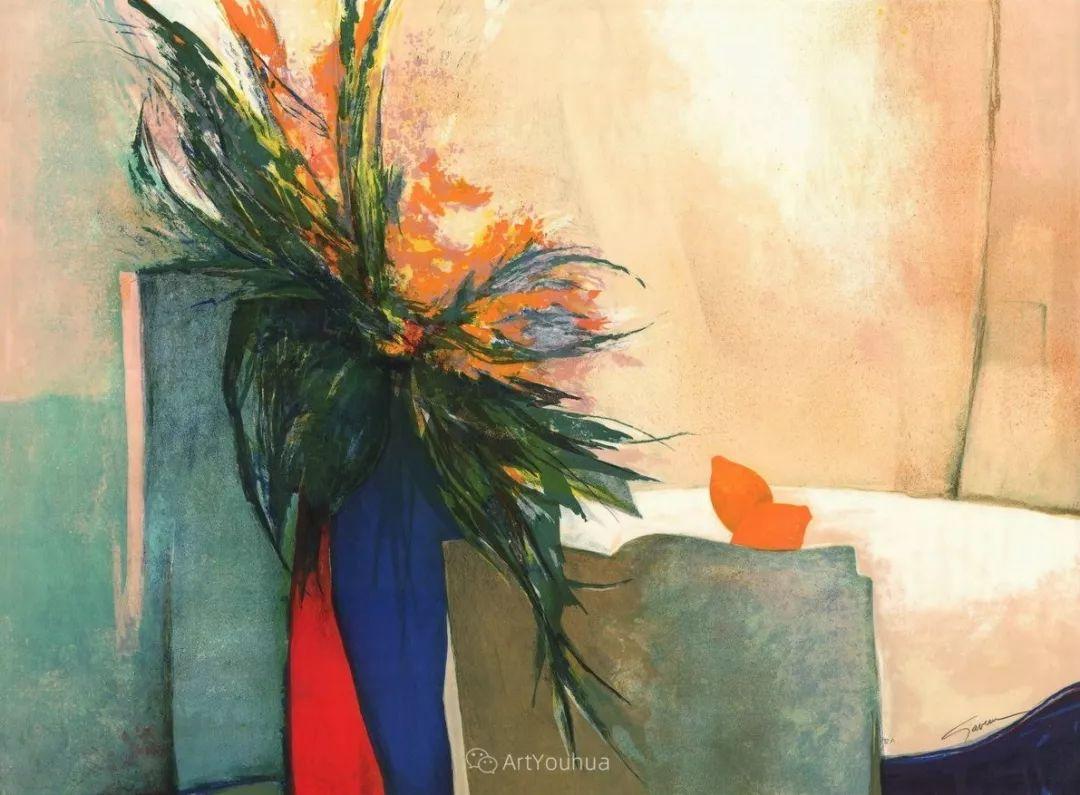 色彩和谐 色调鲜艳,法国抽象派装饰画家Claude Gaveau插图8