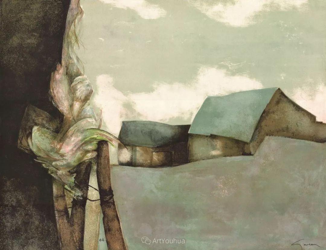 色彩和谐 色调鲜艳,法国抽象派装饰画家Claude Gaveau插图10