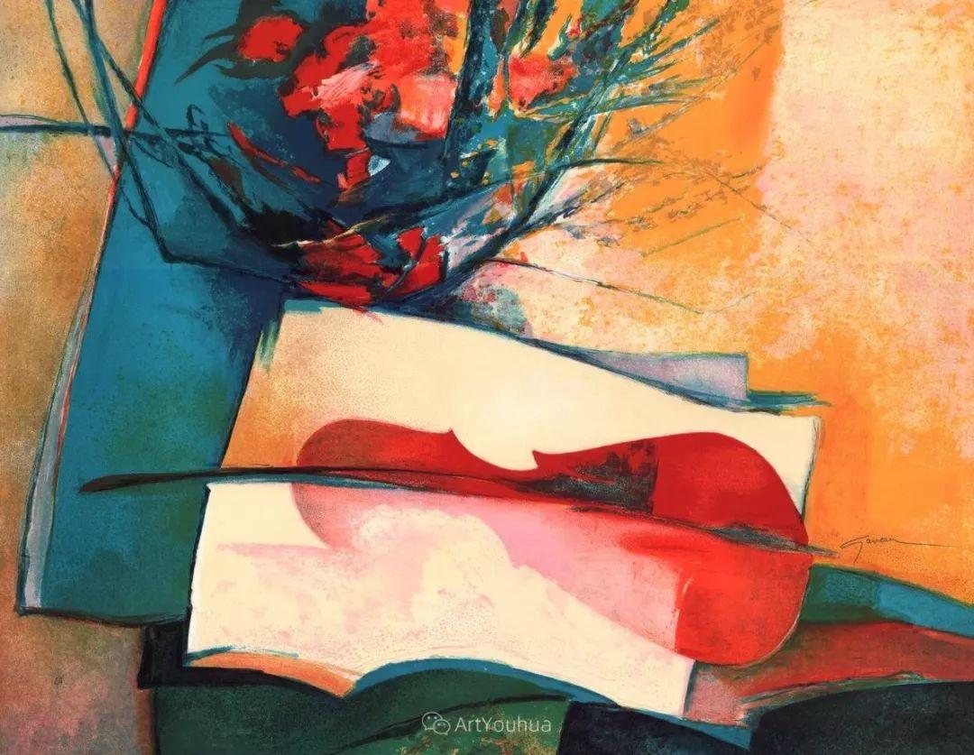 色彩和谐 色调鲜艳,法国抽象派装饰画家Claude Gaveau插图12