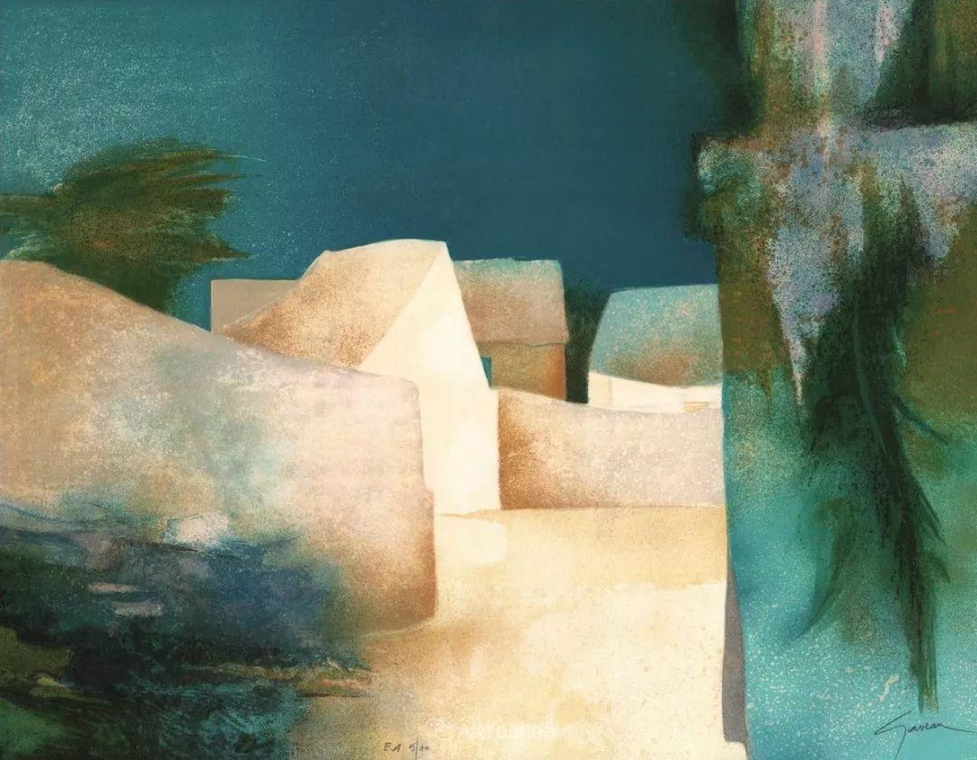 色彩和谐 色调鲜艳,法国抽象派装饰画家Claude Gaveau插图14
