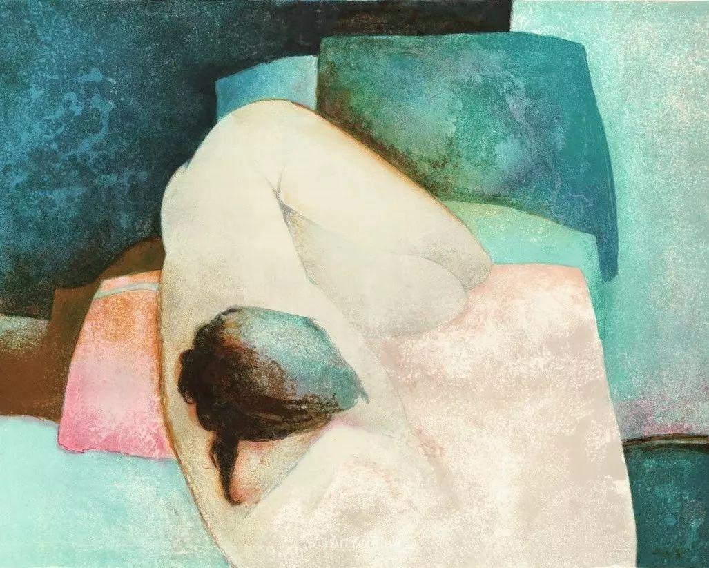 色彩和谐 色调鲜艳,法国抽象派装饰画家Claude Gaveau插图15