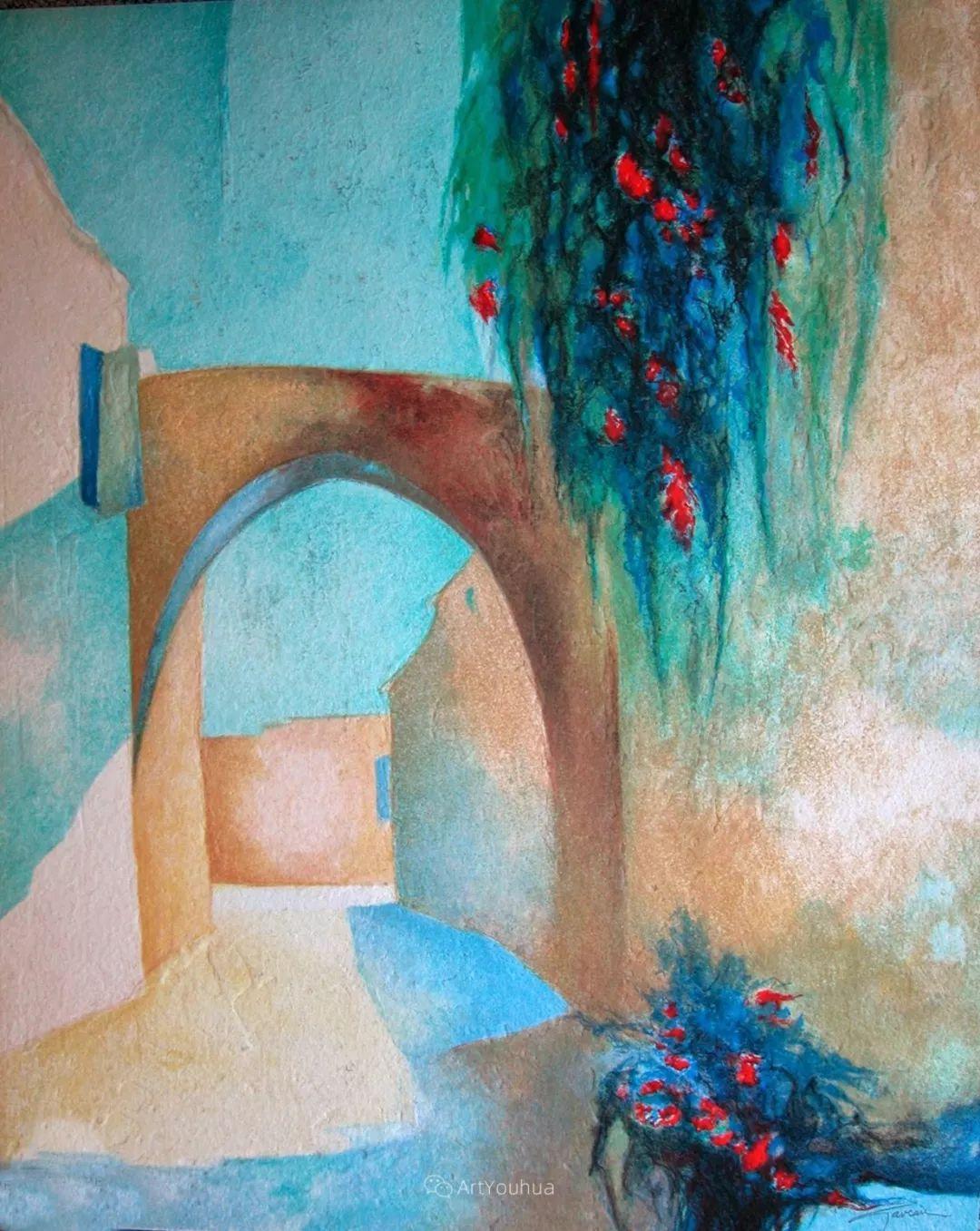 色彩和谐 色调鲜艳,法国抽象派装饰画家Claude Gaveau插图18