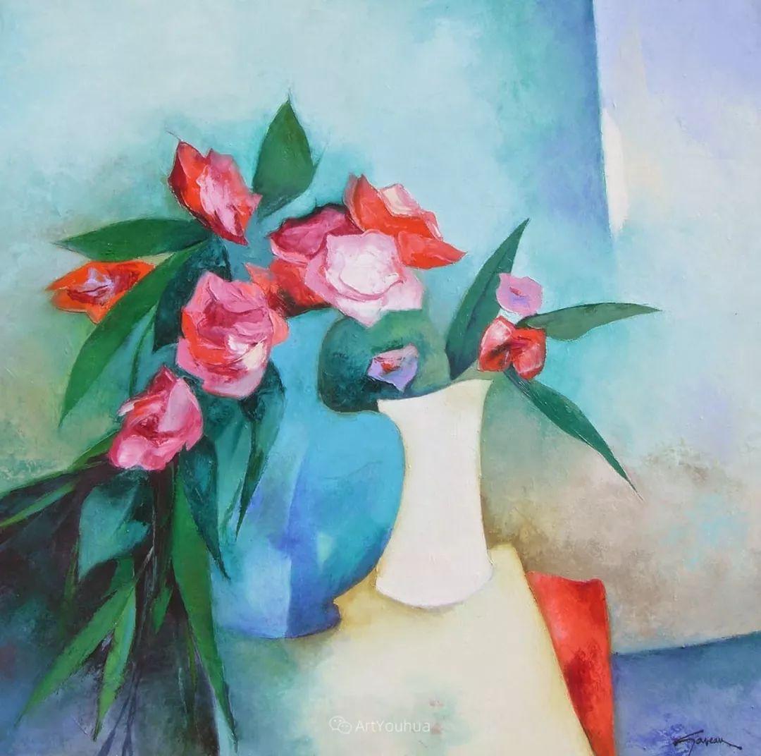 色彩和谐 色调鲜艳,法国抽象派装饰画家Claude Gaveau插图22