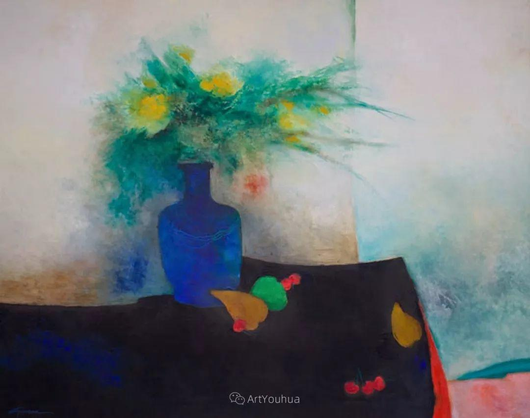 色彩和谐 色调鲜艳,法国抽象派装饰画家Claude Gaveau插图23