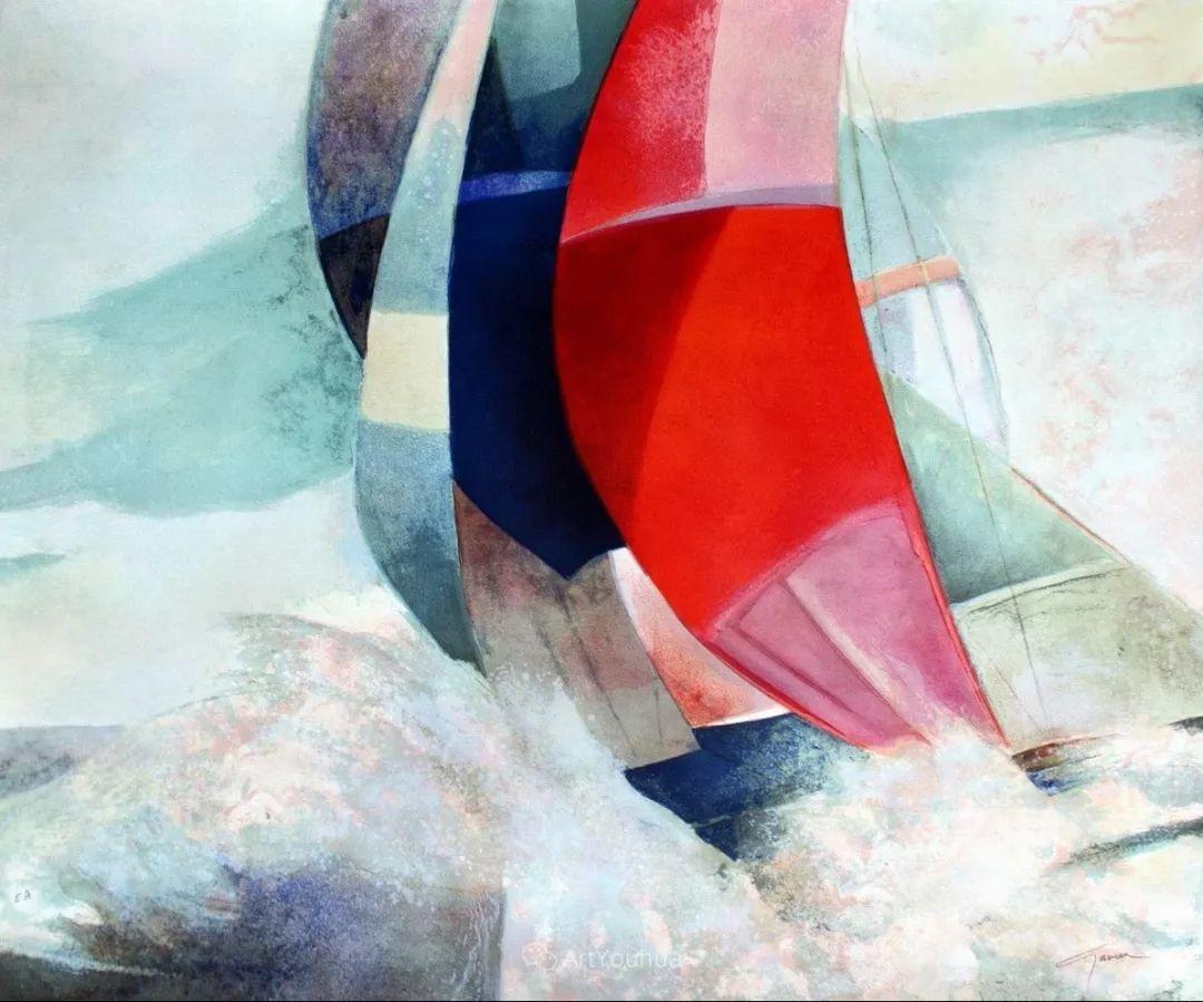 色彩和谐 色调鲜艳,法国抽象派装饰画家Claude Gaveau插图25