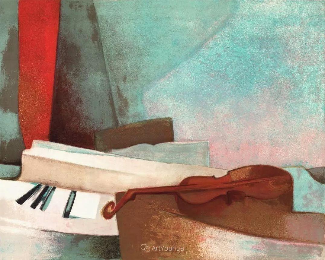 色彩和谐 色调鲜艳,法国抽象派装饰画家Claude Gaveau插图26
