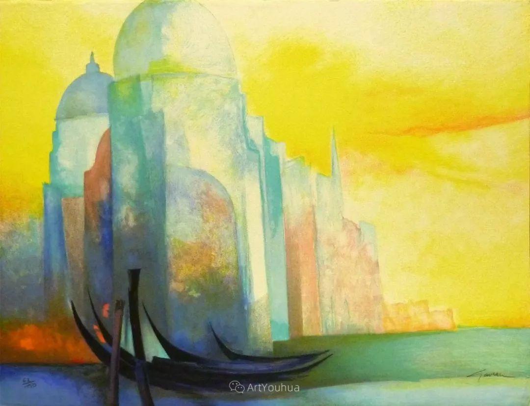 色彩和谐 色调鲜艳,法国抽象派装饰画家Claude Gaveau插图27