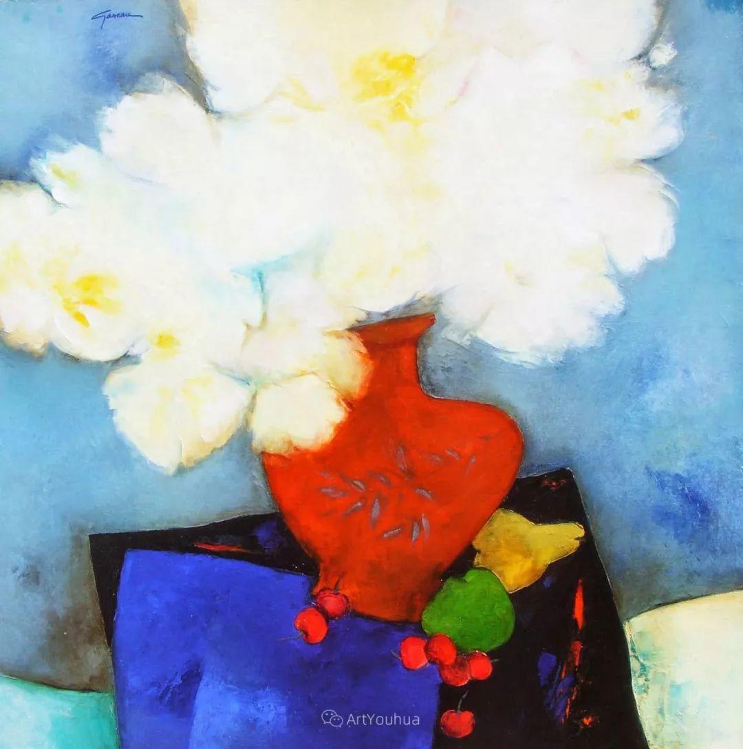 色彩和谐 色调鲜艳,法国抽象派装饰画家Claude Gaveau插图28