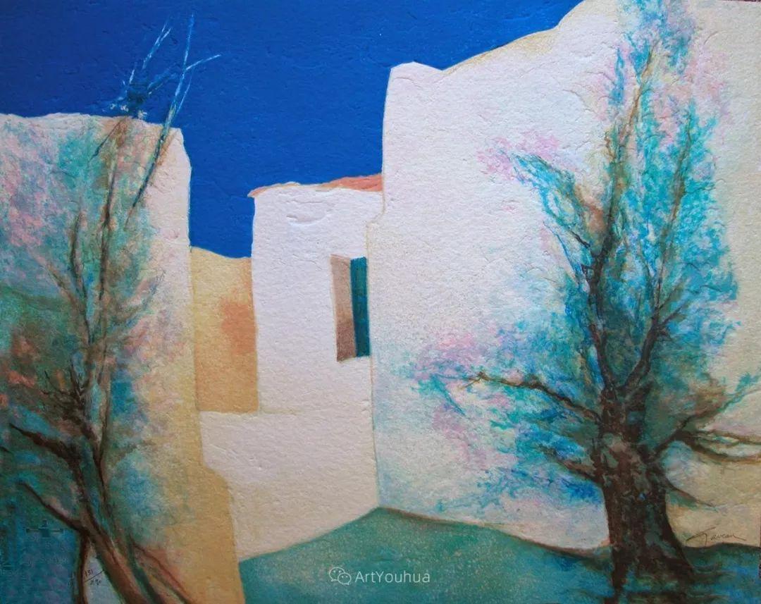 色彩和谐 色调鲜艳,法国抽象派装饰画家Claude Gaveau插图29
