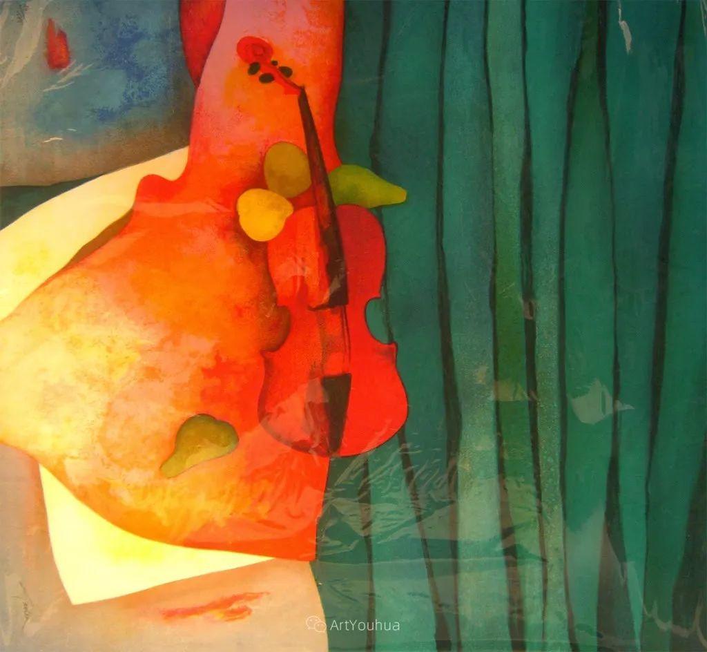 色彩和谐 色调鲜艳,法国抽象派装饰画家Claude Gaveau插图30
