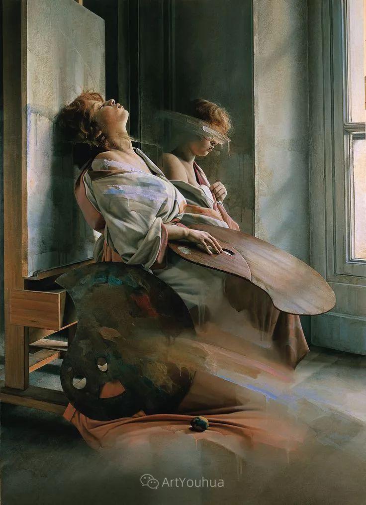 他以细腻的画风享誉国际画坛,笔下的女性大多涩苦幽情插图14