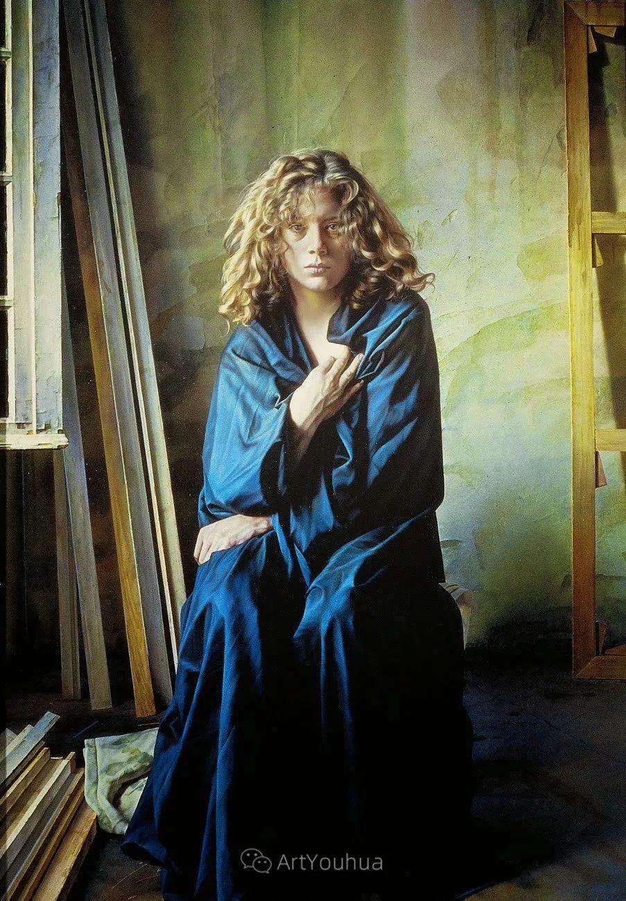 他以细腻的画风享誉国际画坛,笔下的女性大多涩苦幽情插图19