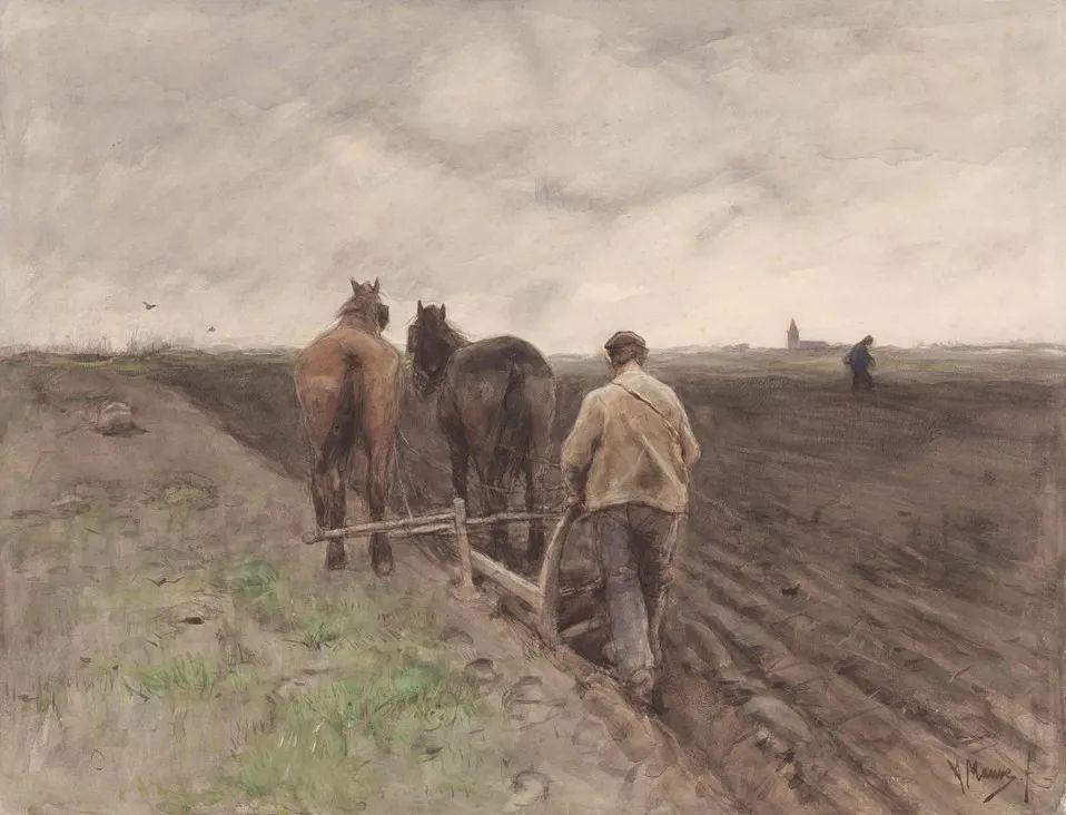 梵高表妹夫——安东·莫夫油画作品欣赏插图16
