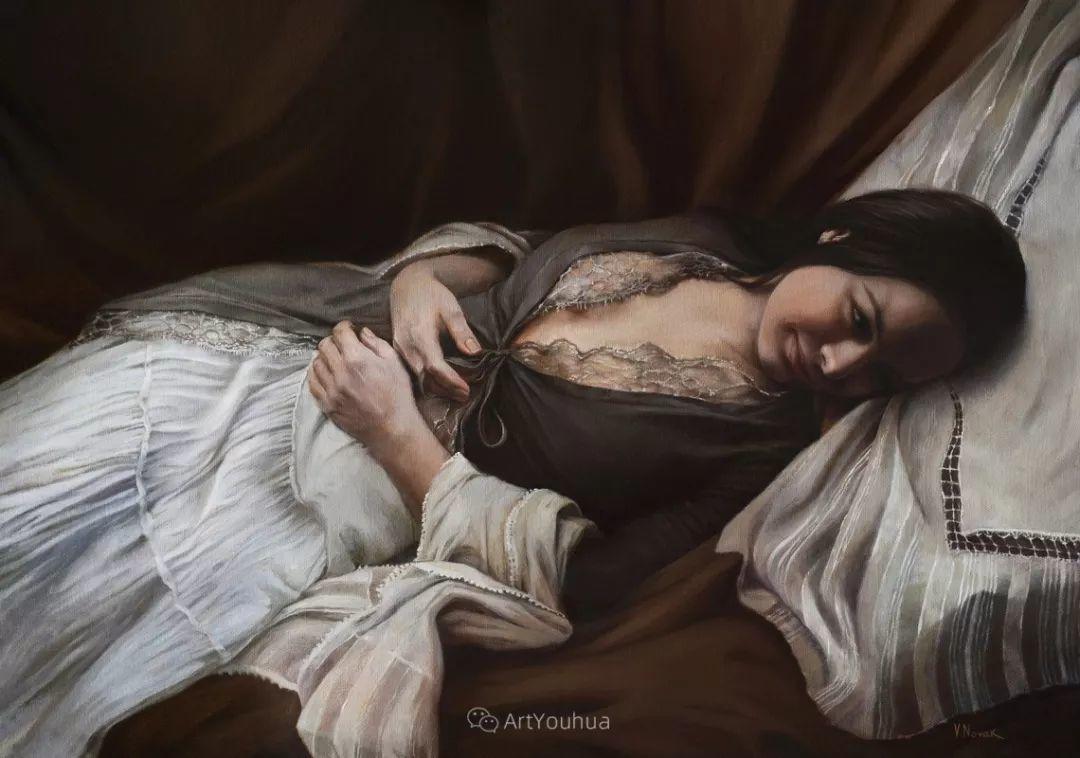 俄罗斯   人美画亦美,现实主义女画家Victoria Novak插图13