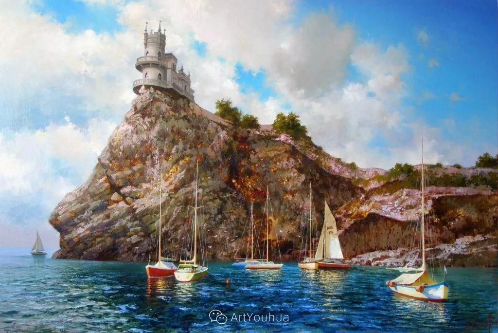 他画笔下的克里米亚海滨,像一位清晨初醒的迷人少女插图7