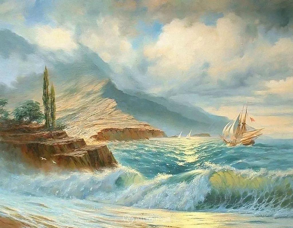 他画笔下的克里米亚海滨,像一位清晨初醒的迷人少女插图9
