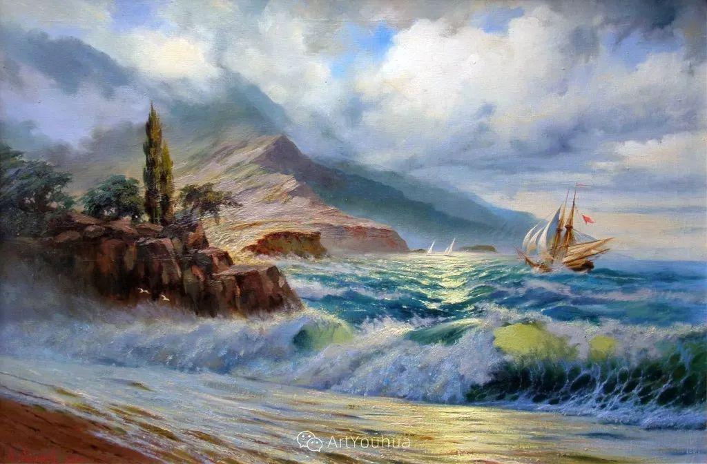 他画笔下的克里米亚海滨,像一位清晨初醒的迷人少女插图14