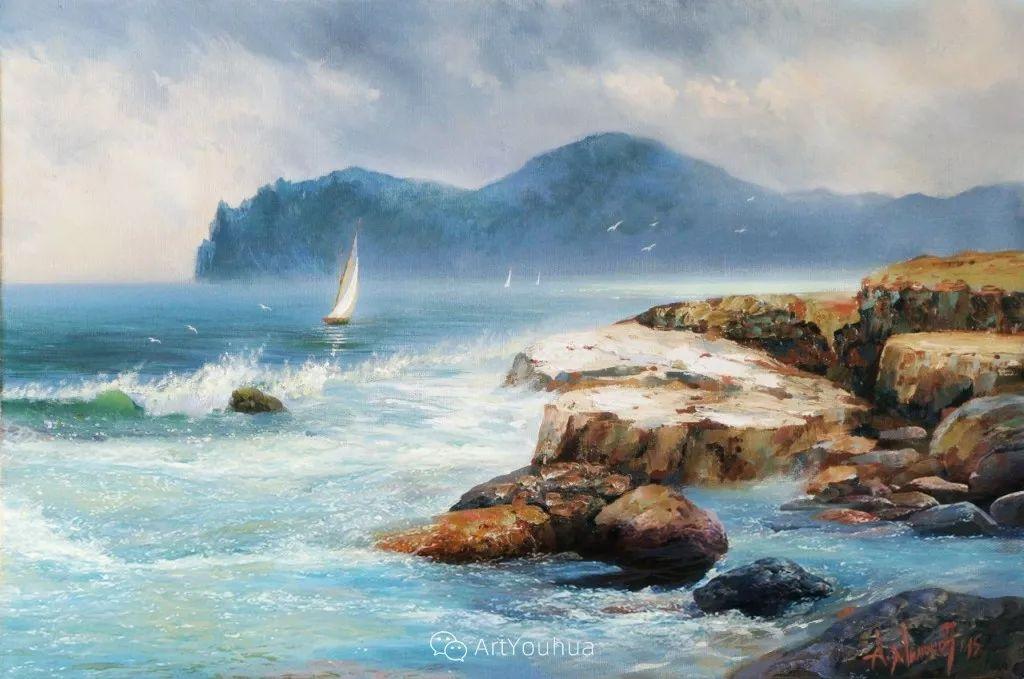 他画笔下的克里米亚海滨,像一位清晨初醒的迷人少女插图33